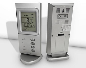 Digital room thermometer 3D asset