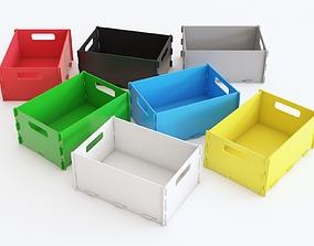3D model Plastic crate 07