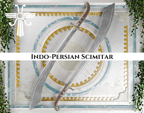 3D model game-ready Ancient Indo Persian Scimitar