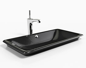 3D model Drop-in Under-mount Vessel bathroom sink KOHLER 2