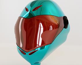 Alien-Faced Racing Helmet for Moto GP or Formula 3D model