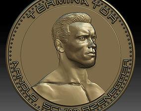 Medal 3D model arnold schwarzenegger coin
