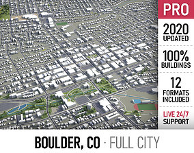 Boulder - Colorado - city and surroundings 3D model