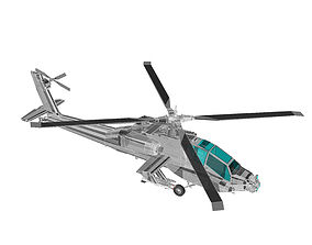 3D asset Military Helicopter