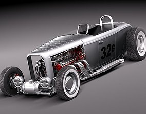 3D 1932 model B hotrod speedracer