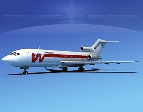 Boeing 727-100 Western Airlines 3D model