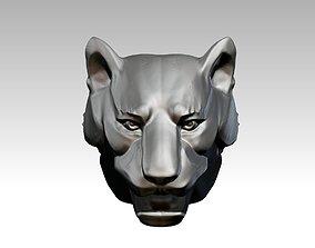 A Tiger Puma Cat Head 3D printable model
