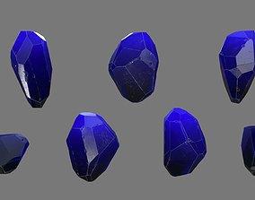 3D model realtime Crystal rock