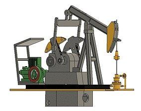 Oil Pumpjack Motorized 3D printable model
