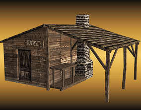 Blacksmith workshop 3D asset