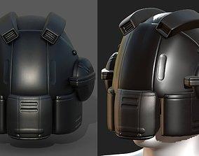 Helmet scifi military combat 3d model low VR / AR ready 1