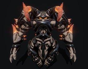 3D asset Golem Knight