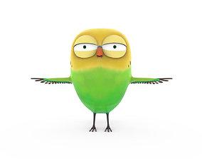 3D model cartoon Cute parrot little bird