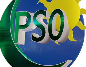 PSO Logo 3D asset