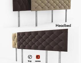 Headboard Bed 3D