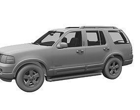 ford explorer car 3d model