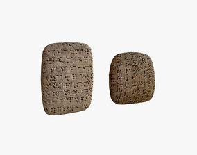3D asset Cuneiform Clay Tablets