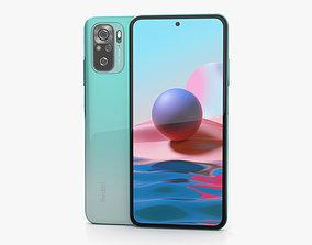Xiaomi Redmi Note 10 Aqua Green sim 3D model