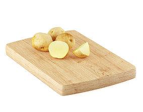 3D model plate Potatoes