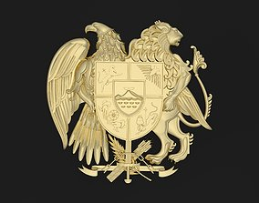 Armenian coat of arms 3D printable model animated