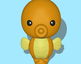 A cute Seahorse to decorate and play 3D printable model