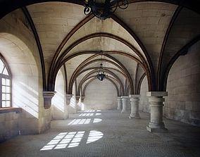 3D model Monastery hall