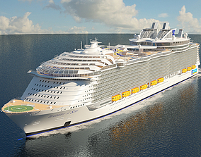 Harmony of the Seas cruise ship 3D