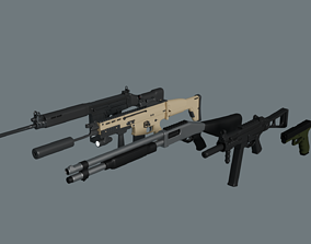 3D asset game-ready WEAPONS PACK