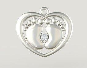 printer 3D print model Pendant Heart