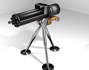 3D model Gatling Gun Type 2