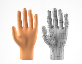 game-ready A Realistic 3D Model of a Man Hand