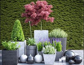 3D model planter group 02