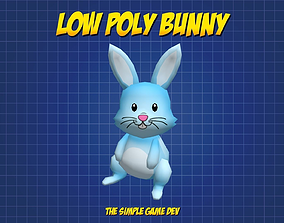 Cute Low Poly Bunny 3D asset