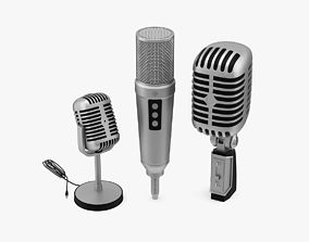 3 Microphones Collection 3D