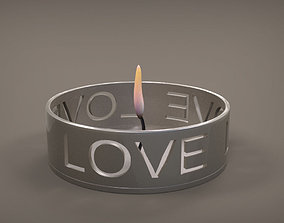 3D print model Love Candle Holder