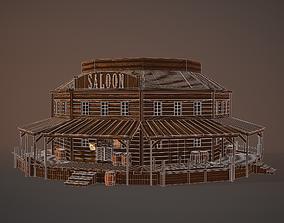 Western Saloon 3D model low-poly