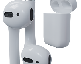 3D model low-poly Airpods