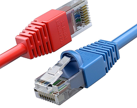 Ethernet RJ-45 Plug 3D model