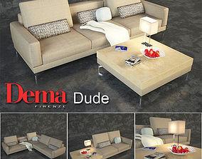 Series of modular sofas Dema Dude 3D