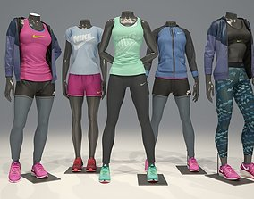 3D model Woman mannequin Nike pack 1