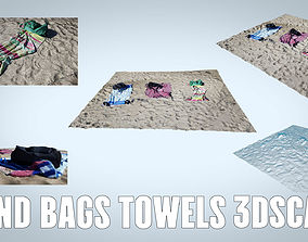 BEACH SAND TOWELS BAGS 3D