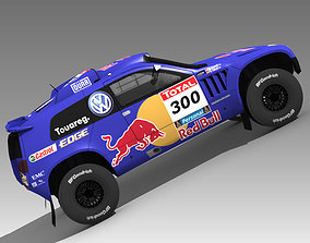 Volkswagen Touareg Rally 3 3D model road