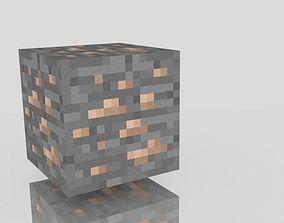 Minecraft iron ore 3D asset