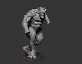 3D printable model RHINO MARVEL STL SLA 130mm