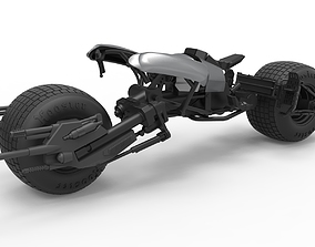 Diecast model Batpod from The Dark Knight Scale 1 to 12