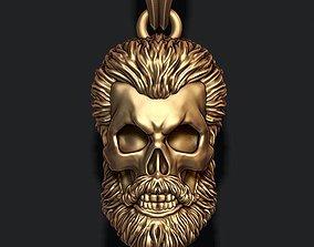 anatomy Bearded skull pendant 3D printable model