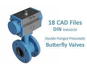 3D model 18 Files - Double Flanged DIN Butterfly Valve 1