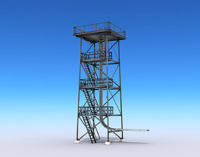 Guard Tower 3D model realtime