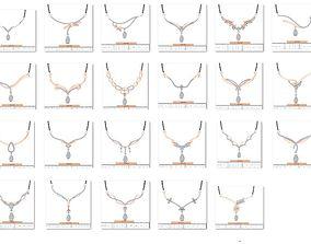 28 Rose Pendant 3dm stl bulk collection