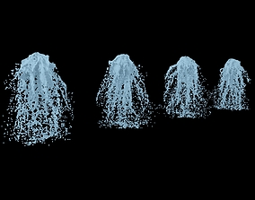 3D model Fountain real flow animated 4